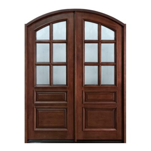 Double wood entry door golden aero wooden manufacturing for Wood entry door manufacturers