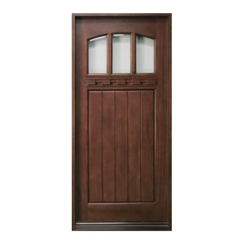 Single wood entry door golden aero wooden manufacturing for Wood entry door manufacturers
